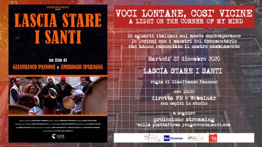 """Voci Lontane, sempre vicine – A light on the corner of my mind"", la prima piattaforma per la promozione del documentario italiano all'estero"